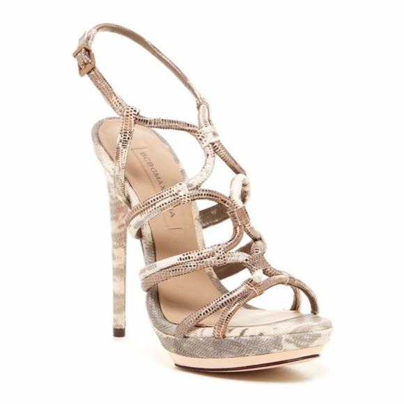 8dab1bfd3 BCBG Farrow Metallic Strappy Sandal