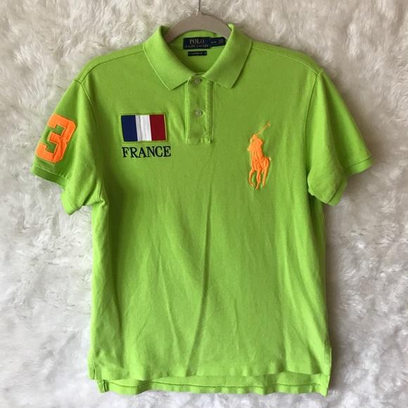 France Pony Ralph Polo Lauren Shirt Big 2HEIDW9