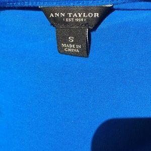 Ann Taylor Tops - Ann Taylor Royal Blue Crochet Tank Top