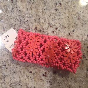 Pink floral bracelet