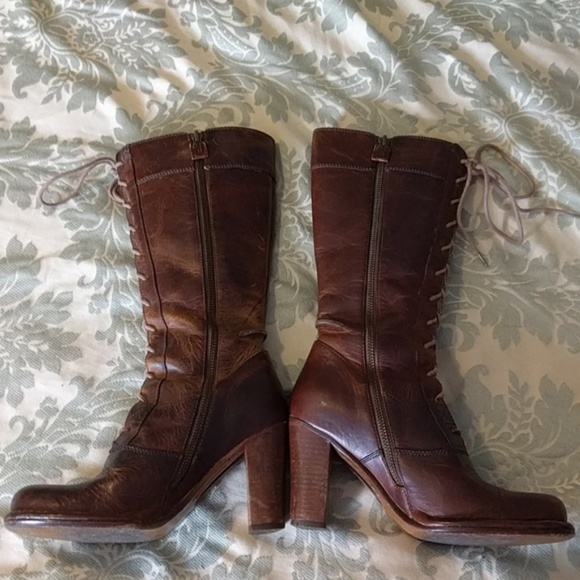 Frye Shoes - Frye Parker Lace-Up Tall boot