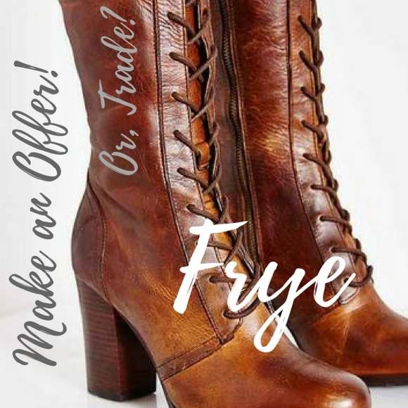 Frye Shoes - #Frye #Villager Lace-Up Tall boot