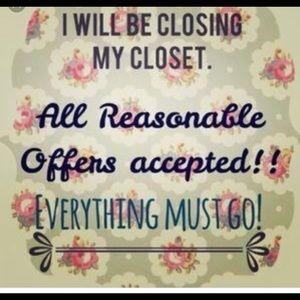 Tops - Make offers! Closet closing soon! 👌🏼🤗😆