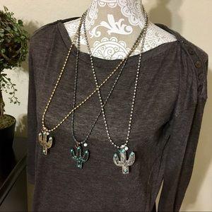 Jewelry - Wild & Free Cactus Necklace