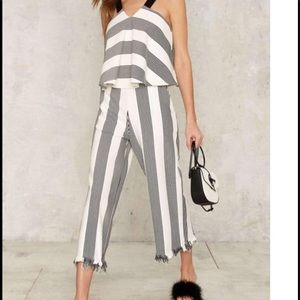🆕 #123 all the tripe moves High Waisted trousers