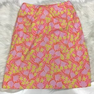 Vintage Lilly Pulitzer Floral printed pink skirt