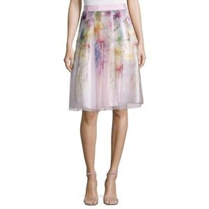 💕 TED BAKER silk watercolor skirt NEW size 2