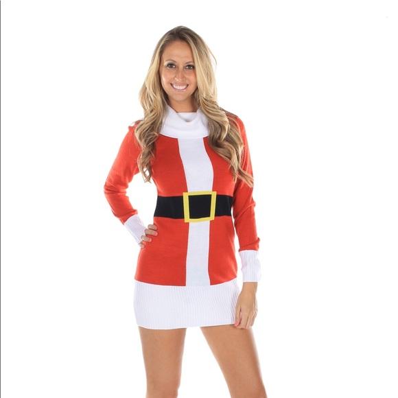 e997a50c504af Tipsy Elves Dresses   Never Worn Santa Sweater Dress   Poshmark