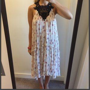 ZARA Floral Crochet Midi Maxi Dress