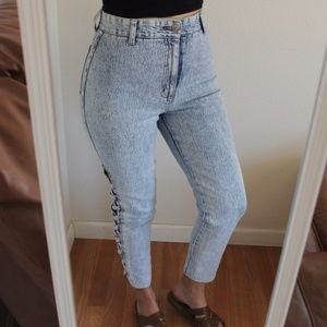 Vintage Acid Wash High Rise Jeans