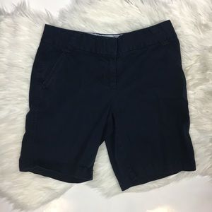 J.Crew city fit blue chino shorts