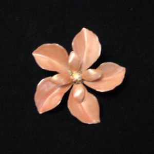 Jewelry - Peach Floral Pin