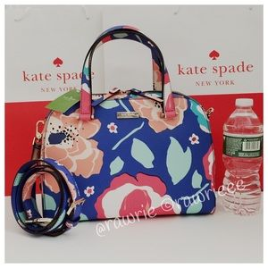 SALE New Kate Spade felix cherry floral satchel