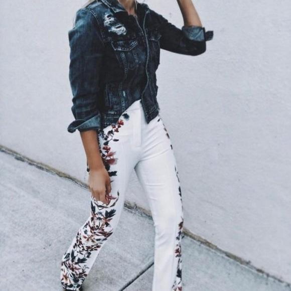 54273967 Zara Pants | Nwt Floral Side Print Flared Trousers | Poshmark