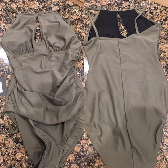 ed34398a1ac Ellen Tracy Swim | Nwt Olive One Piece Ruched Suit | Poshmark