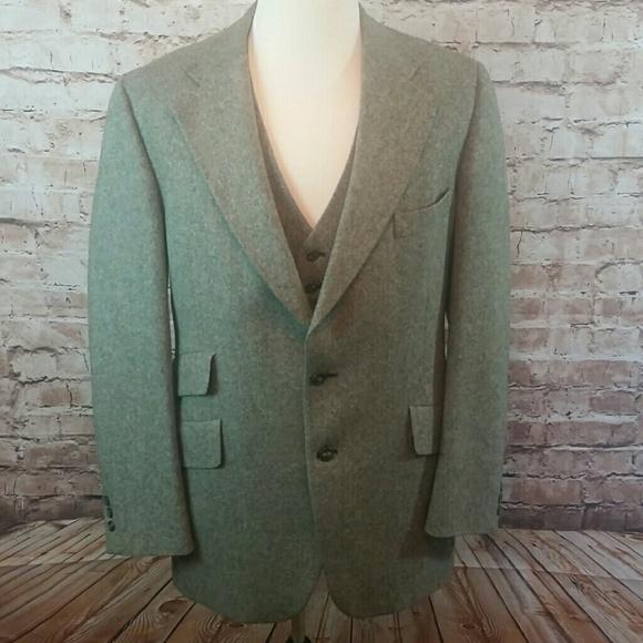 Austin Reed Suits Blazers Vintage Austin Reed Tweed Blazer Vest 42r Poshmark