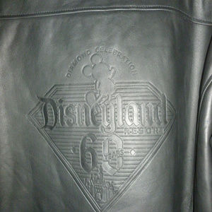 314353944 Men's Disneyland 60th Anniversary Leather Jacket Boutique