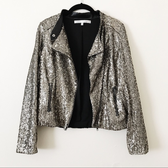 c71f045a Lovers + Friends Jackets & Blazers - Lovers + Friends Gold Sequin Bomber  Jacket