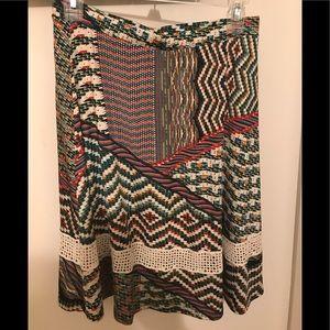 Dresses & Skirts - EUC Stitch Fix Multicolor Skirt sz med