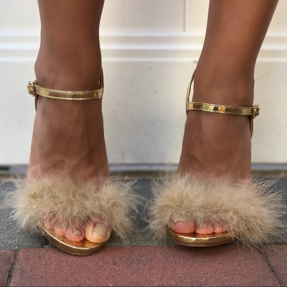 Dr Jays Shoes Gold Fluffy Heels Poshmark
