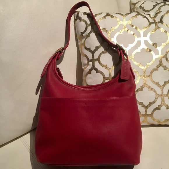 9f45d74ba Bags | Vintage Coach Legacy Hobo Red Leather No 9058 | Poshmark