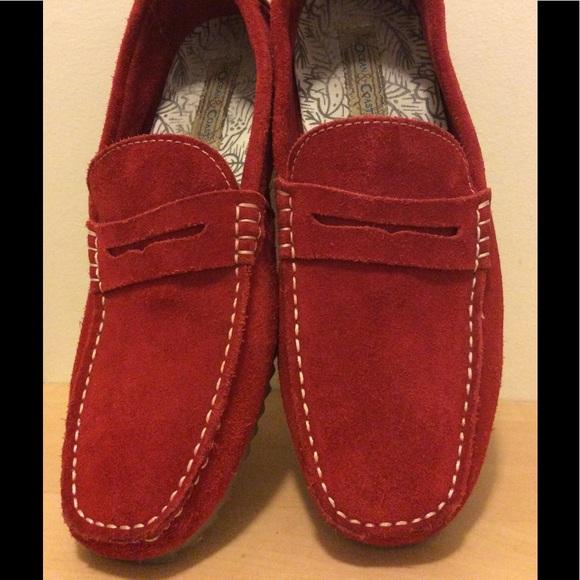 Mens Ocean & Coast Leather Driving Shoes Sz 9
