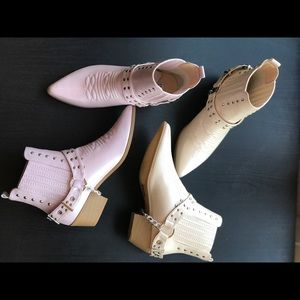 boutique Shoes - Ladies chunky heels cowboy pointed toe booties