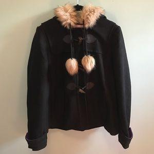 Juicy Couture Black Fur Winter Coat