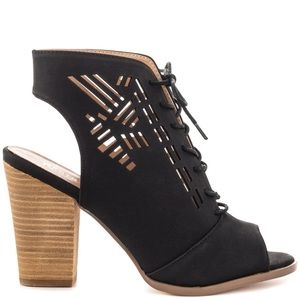 Shoes - Restricted Wanda Laser Cutout Chunky Heel
