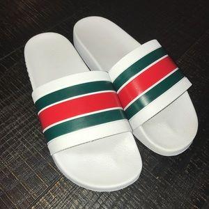 Gucci Shoes   Mens White Gucci Flip