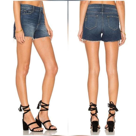 7008044bc4 PAIGE Shorts | Margot High Waist Jean Denim Checker | Poshmark