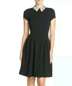 KUT From The Kloth~Embellished Collar Ponte Dress