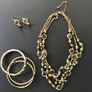 Jewelry - Necklace, Earring and Bangle Set