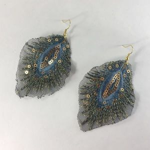 Jewelry - NWOT Mesh and sequin earrings