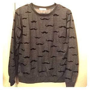 Mustache Pullover Sweater