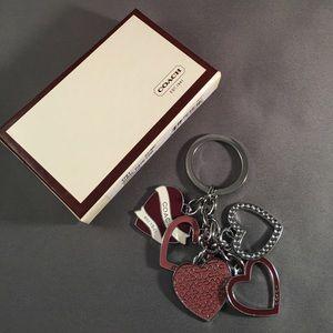 Coach Hearts Keychain ❤️❤️