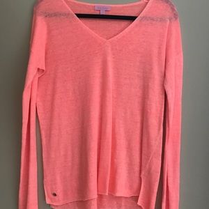 Lilly Pulitzer Jameson Sweater in Pop Peach