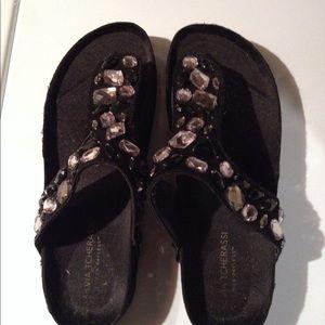 Shoes - Jeweled Sandals Sz 7.5