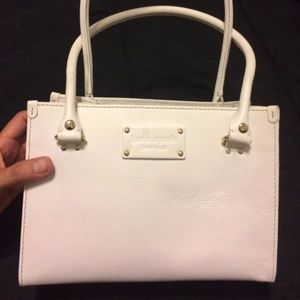 White Pebbled leather Kate Spade tote