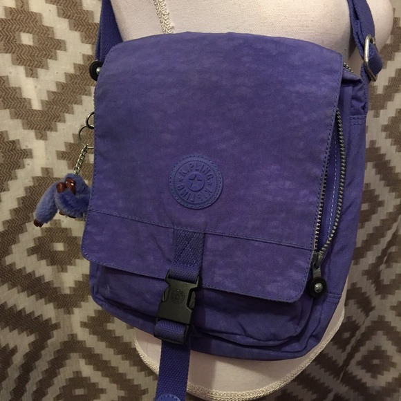 10dc03fe8844 Kipling Handbags - Kipling Eleanor Purple Crossbody School Bag!