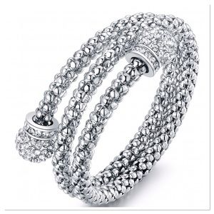 Cubic Zirconia Popcorn Coil Bangle