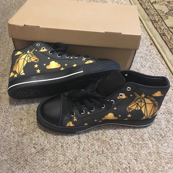Shoes | Black And Gold Unicorn Chuck
