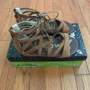 Sam Edelman Lace Up wedge sandals
