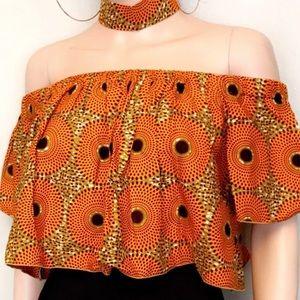 Tops - 🎉🎊 African Print Crop Tops 🎊🎉