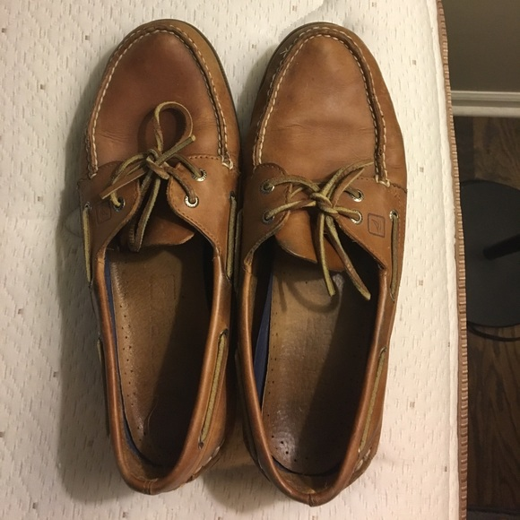 best loved best deals on low price Brown leather Sperrys