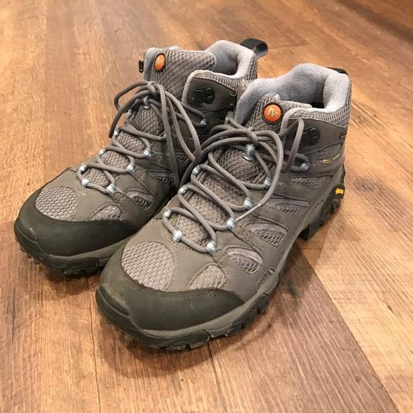 merrell continuum vibram hiking shoes white