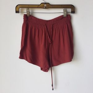 Pants - Red Rust Flowy Summer Shorts from Forever 21
