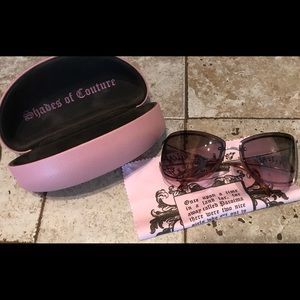 Juicy Couture Accessories - Brown and Gold Juicy Couture Sunnies