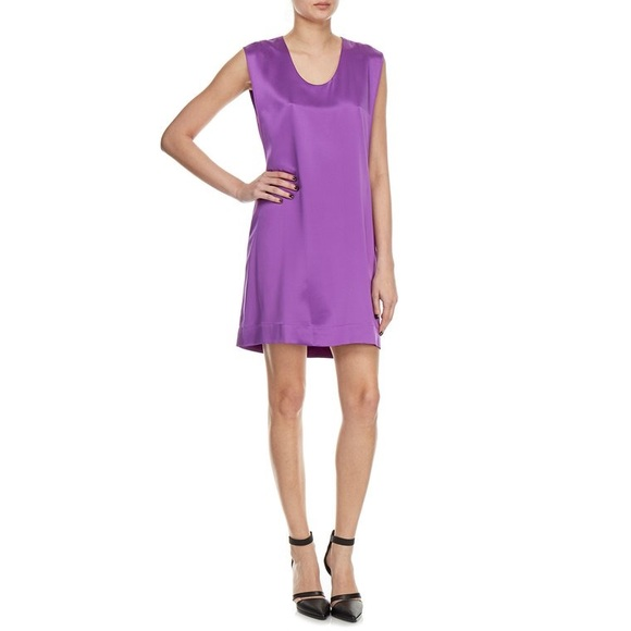 754d3e93bb80 Helmut Lang Dresses & Skirts - HELMUT LANG Cutout Back Silk-Satin Dress