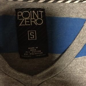 Point Zero Shirts - Men's Short Sleeve V neck  T-Shirt